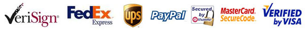 Payment options, delivery status, paypal, credit card, SSL