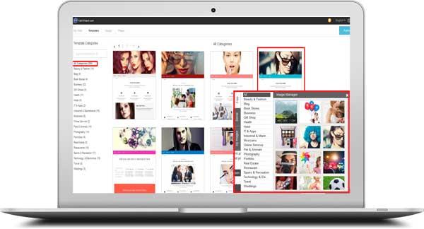 WebsiteBuilder Design templates