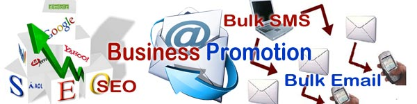 Business promotion, Bulk SMS, Bulk Email, SEO, SEM