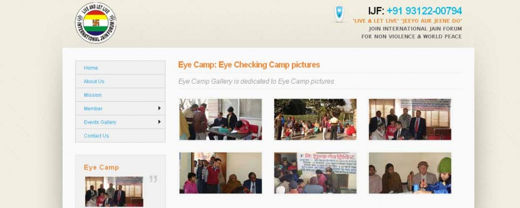 Eye camp of International Jain Forum